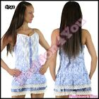 Sexy Women's Mini Dress Ladies Floral Casual Lace Short Dress One Size 6,8,10 UK