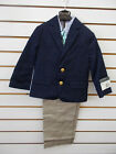 Внешний вид - Toddler Boys Perry Ellis 4pc Navy & Khaki Suit Size 2T - 3T