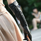Womens Genuine Soft Nappa Leather Elbow Long Party Gloves w/ Button On Sale #007 $54.82 USD