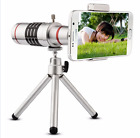 X18 & X12 Optical Zoom Telescope Camera Lens Kit Tripod Cell Phone Smartphone