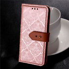 New Luxury Genuine Real Leather Flip Case Wallet Cover For Samsung Galaxy Models