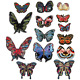 Butterfly Patches Applique Embroidered Printing Embroidery Sew On Patch Lot
