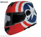 Torc Avenger T27 Modular Dual Visor Helmet Rebel Star with Blinc Bluetooth