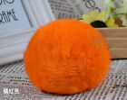 100% Real Rabbit Fur Ball Key Chains IPAD IPHONE Decor Bag Charms String Pendant