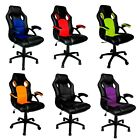 Swivel PU Leather Mesh Office Racing Gaming Style Computer Desk Reclining Chair
