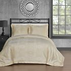 Staniey Bedding Silk Feel Cotton Blend 450 TC 3-piece Duvet Cover Set in Beige  image