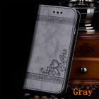 New For Samsung S8 Plus Note 5 Leather Card Holder Stand Wallet Case Phone Cover