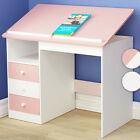 Child Study Desk School Children Writing Table Tiltable Tabletop Drawer Shelf