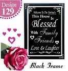 MY FAMILY QUOTE SIGN BIRTHDAY GIFTS FOR FAMILY PERSONALISED BIRTHDAY PRESENTS