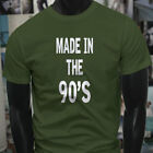 MADE IN THE 90'S BIRTHDAY NINETIES MUSIC BORN Mens Military Green T-Shirt image