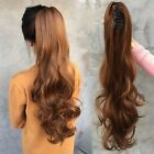 Hot Sale Wave Claw Grip Chuck Ponytail Remy Human Hair Extensions black blonde