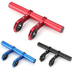 Outdoor Bike Double Handlebar Extension Mount Road Light Flashlight Holder