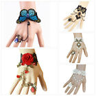 Lace Gothic Vintage Bracelet Ring Wrist Cuffs Fingerless Glove Jewellery Gifts