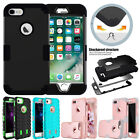 Shockproof Rubber PC Dual Layer Protective Hybrid Case Cover for iPhone 7/6 Plus