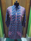 "S 39"" M 40"" HANDMADE ETHINC CHIKAN EMBROIDERY 100% COTTON TOP TUNIC KURTA KURTI"