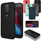 Rugged Armor Shockproof Soft TPU Brushed Case Cover For Motorola Moto G4 Play