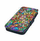 Stained Glass - Printed Faux Leather Flip Phone Cover Case Disney Princesses #1