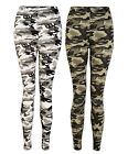 LADIES RIPPED KNEE LEGGINGS WOMENS CAMOUFLAGE WITH STRETCH UK 6 8 10 12 BNWT