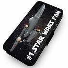 #1 Star Wars Fan . Printed Faux Leather Flip Phone Cover Case #1