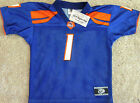 BOISE STATE BRONCOS TODDLER FOOTBALL JERSEY #1 SIZES TODDLER 2/3 NEW!  NCAA