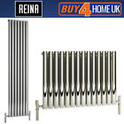 Reina Neva Steel Designer Chrome Single Panel Radiators - Horizontal & Vertical