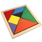 Wooden Tangram Brain Teaser Puzzle Educational Developmental Kids Toy #1133