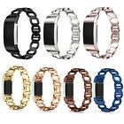 Stainless Steel Link Bracelet Band Wrist Watch Strap w/ Tool For Fitbit Charge 2