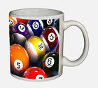 Billiard 9 Ball 8 Ball Pool Beverage & Coffee Mug Ceramic Tumbler $17.99 USD on eBay