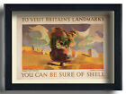 Brimham Rock, Yorkshire, framed art deco poster repro by Graham Sutherland