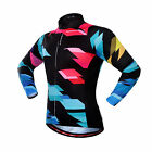 Colorful MTB Zipper Clothes Long Sleeve Shirts Bicycle Jersey Cycling SportWear
