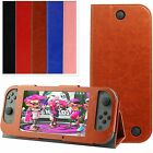 PU Leather Stand Magnetic Flip Case Cover Skin For Nintendo Switch Console