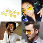 UVA UVB Pilot Aviator Frame Yellow Len Night Driving Sunglasses Men Women Unisex