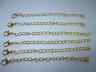 UK Gold Silver Extension Link Curb Necklace Pendant Jewellery Extender Chain
