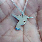 Hummingbird Necklace - Sterling Silver Jewelry - Gold - Rose Gold - Engrave