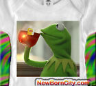 KERMIT the Frog One piece onezie sipping tea But That's None Of My Business meme