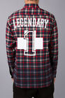 Pink Dolphin NO. 1 FLANNEL Plaid Gradient RED Shirt SOLD OUT ON LINE  Sz. M L