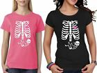 Pregnant Skeleton Womens Girls Short Sleeve Cotton Top Fancy Funny T Shirt Lot