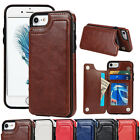 Magnetic Stand Card Pocket Leather Back Case Cover for iPhone 7/6s Plus PhoneBag