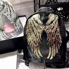 1Pair Newest Decor Applique Motif Angel Wings Sequins Iron-On Embroidered Patch