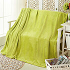 Solid Color Flannel Fleece Plush Blankets Throw Twin/Full Pet Bed Sofa Covers