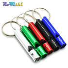 Aluminium Camping Survival Whistle Key Pendant Stylish Keychain Keyring