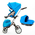 Baby stroller 3 in 1 Carriage 360° high view Travel Foldable pushchair&car seat