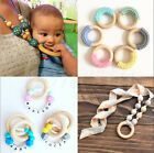 10pcs 15mm-70mm Baby Natural Teething Rings Wooden Necklace Bracelet DIY Crafts