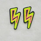 Double color Lightning BOLTS EMBROIDERY IRON ON PATCH BADGE sewn For clothing