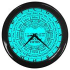 Circle of Fifths Music Theory Key Signatures Style 7 color variations Wall Clock фото