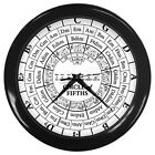 Circle of Fifths Music Theory Key Signatures Style 7 color variations Wall Clock