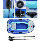 Inflatable Boat Dinghy Raft Kayak Canoe 3/4 Person Double Seating Fishing Beach