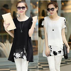 PLUS Size Women Loose Chiffon Floral Tunic Fantastic New Dress Blouse Shirt Tops