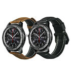 For Samsung Gear S3 Classic / Frontier Watch Band Vintage Genuine Leather Strap image