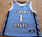 SONOMA STATE SEAWOLVES YOUTH BASKETBALL JERSEY NCAA #1 NEW! YOUTH MEDIUM